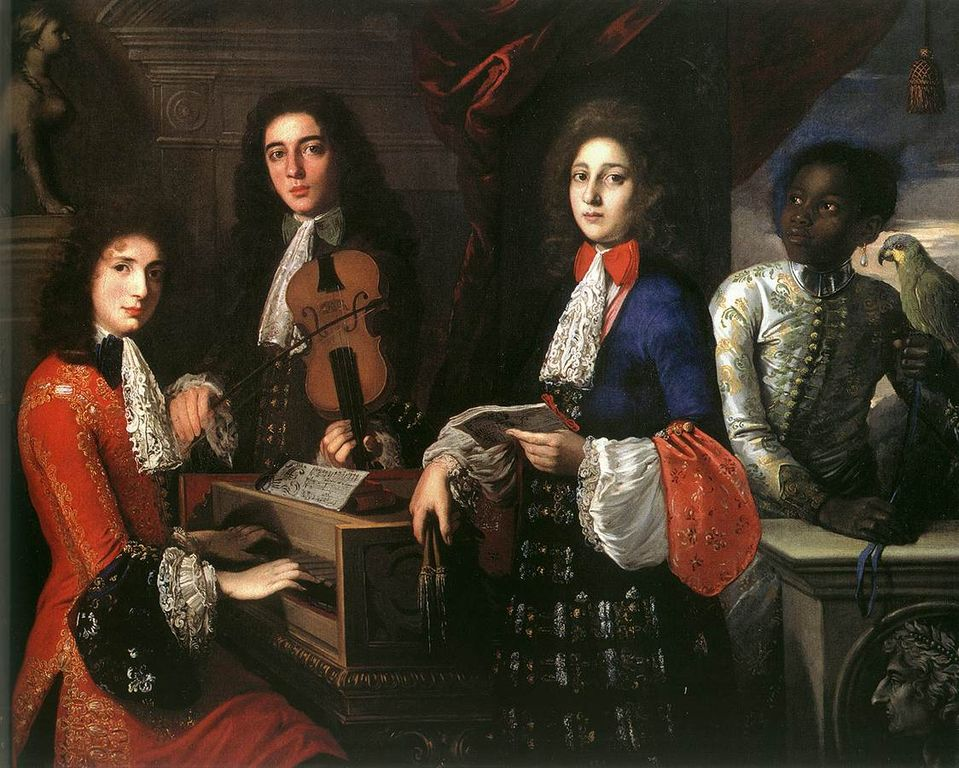 Anton Domenico Gabbiani - Portrait of Three Musicians of the Medici Cour