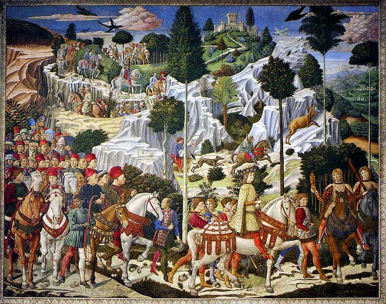 the journey of the magi' frescoes by benozzo gozzoli